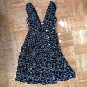 Max Studio Flowy V neck Dress